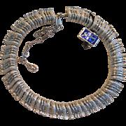 Vintage Coro Silver Tone Choker Necklace with Original Tag