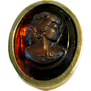 Vintage Sarah Coventry Cameo Ring Adjustable Size 6 1/4