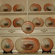 Limoges Game Birds Plates & Platter Set