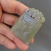 C1850 Chinese Nephrite Mutton Fat Hetian Jade Pendant