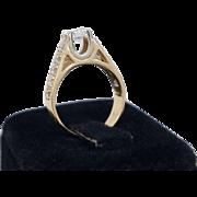 SALE Stunning 14K 0.80 Carat Diamond Engagement Ring Size 6