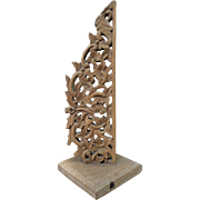 Carved Wood Display Piece Home Decor