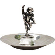 SALE Tiffany & Co. Makers Sterling Silver Cherub Angel Figural Ring jewelry Dish