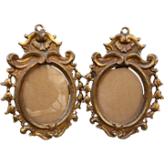 SALE Beautiful Pair Victorian Gilt Bronze Frames
