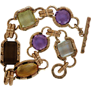 Beautiful Roberto Coin 18K Yellow Gold Multi-Color Gemstone Bracelet