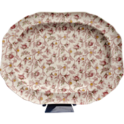 "Copeland Spode Rosebud Chintz 14"" Serving Platter (S3715-Cream)"