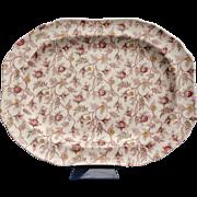 """SALE Copeland Spode Rosebud Chintz 14"""" Serving Platter (S3715-Cream)"""