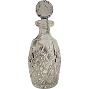 Vintage Waterford Giftware Spirit Decanter Irish Cut Crystal Ball Stopper 11""