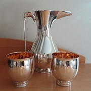 SALE Bvlgari English Sterling Silver Pitcher Cups Set