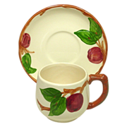 Franciscan China, Apple Pattern, Small Mug and Saucer, U.S.A.