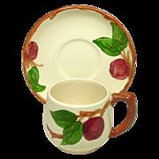 Franciscan China, Apple Pattern, Small Mug and Saucer, U.S.A.