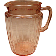 Anchor Hocking Glass, Pillar Optic, Pitcher, 1937-1942