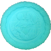 Fenton Glass Company, 1974 Mother's Day Plate, Blue