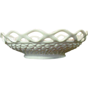 Imperial Glass ~ Lace Edge Milk Glass Bowl ~ 10 1/2""