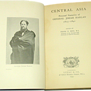An American in Central Asia, J. Harlan 1823-1841, 1939, First Edition