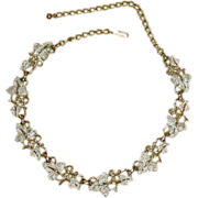 "Vintage Sarah Coventry, ""Plain and Fancy"" Necklace"