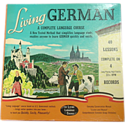 Living German Language Course, 4 - 33 1/3 RPM Records, 2 Books