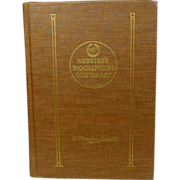 Webster's Biographical Dictionary, 1964, First Edition