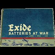 Exide Batteries at War, 1946, WWII Images/Art, Advertising