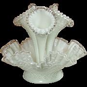 Fenton Silver Crest 4 piece Epergne, Diamond Point, Flawless