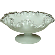 Fenton Art Glass, Silver Crest Pattern, Low Footed Comport