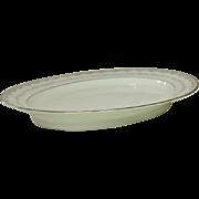 """Noritake China, Japan, #6243 Margaret Pattern, 16"""" Oval Platter, 1961-1973"""