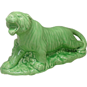 Mid-Century, Green Tiger Planter, Cameron Clay Products, WV