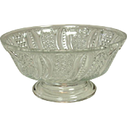 EAPG Glass Open Compote, Feather Pattern, Circa 1896, McKee Brothers