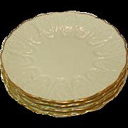 "Lenox USA, Cottage, Leaf Pattern, Dessert / Pie Plates, 7 1/4"", Six"