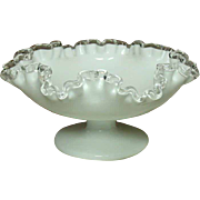 Fenton Art Glass Company, Silver Crest Line, Footed Comport