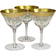 Paden City Glass, Spring Rose, Cocktail / Champagne Stems, 1930's-40's
