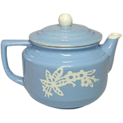 Harker Pottery Company, USA, Blue Cameoware, Coffee / Tea Pot