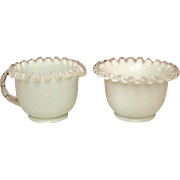 Fenton Art Glass, Silver Crest Pattern, Sugar and Creamer Set