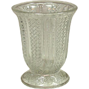 EAPG Glass Spooner, Feather Pattern, Circa 1896, McKee Brothers