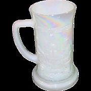 Federal Glass Company ~ Milk Glass Beer Stein ~ Aurora finish