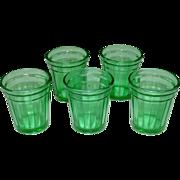 Akro Agate Tumblers ~ Play Time Lemonade Set ~ Green