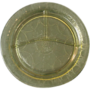 "Depression Glass ~ Cameo ~ 10 1/2"" Grill Plates, Yellow"