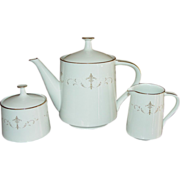 Noritake ~ Teapot, Creamer, Sugar Set ~ Courtney Pattern
