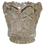 SOLD Imperial Glass Company ~ Toothpick ~ Octagon Pattern ~ Crystal