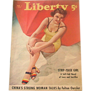 Liberty Magazine ~ August 7, 1937 ~ Short Stories,Quaint Ads, Great Illustrations