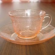 SOLD MacBeth-Evans ~ Dogwood pattern ~ Cup & Saucer ~ Pink