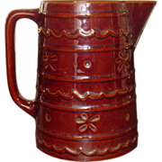 Hull Pottery ~ Mar-Crest Stoneware ~ Daisy and Dot Pitcher