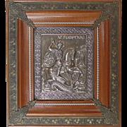 Greek Orthodox Icon of St. George slaying Dragon