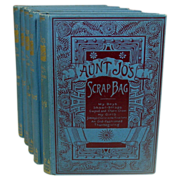 SOLD Louisa May Alcott, Aunt Jo's Scrap Bag, 1891, 5 Volumes - Red Tag Sale Item