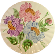 SOLD Blue Ridge Southern Potteries, Inc., Colorful Floral Dinner Plates