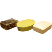 Three Old Celluloid Soap Boxes