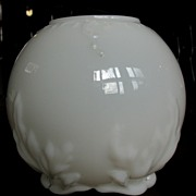 Dithridge milk glass Victorian Rose bowl vase