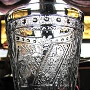 SOLD Eapg Adams glass, Horseshoe goblet, Prayer rug, Good Luck