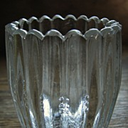 SOLD Eapg, Bryce Higbee Glass 'Banded Barrel' toothpick