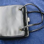 SALE Leather handbag, Vintage purse black